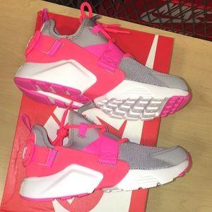 Nike Air Huarache Shoes Women Hot Punch Pink Grey